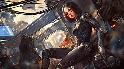Cyberpunk Futuristic Alita Angel Concept Battle Cyber