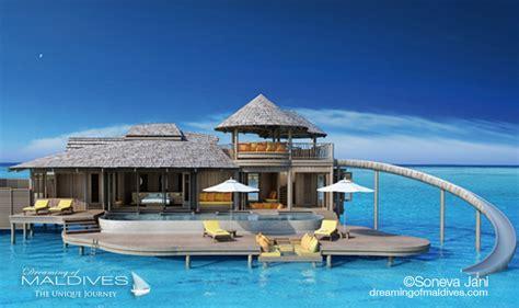chambre sur pilotis maldives soneva jani le nouvel hôtel de rêve des maldives prévu