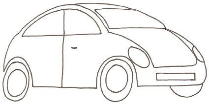 disegni  macchine  bambini   disegnare una