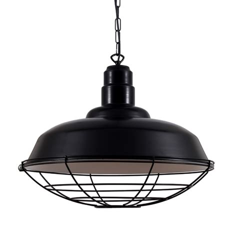 decorative stools and benches black industrial cage pendant light