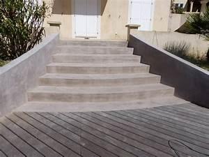 Vernis Sol Beton : r alisation d 39 un rev tement b ton cir sur un escalier ~ Premium-room.com Idées de Décoration