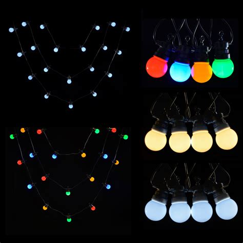 20 bulb christmas lights 20 connectable led christmas party outdoor string lights