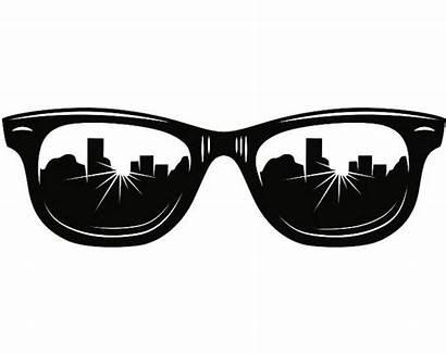 Svg Glasses Eye Shades Sunglasses Reflection Sun