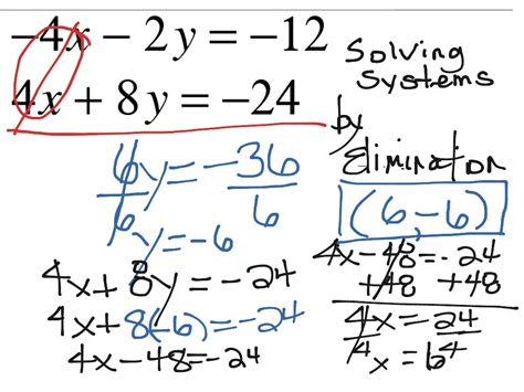 Showme  Solving Systems Of Equation By Elimination