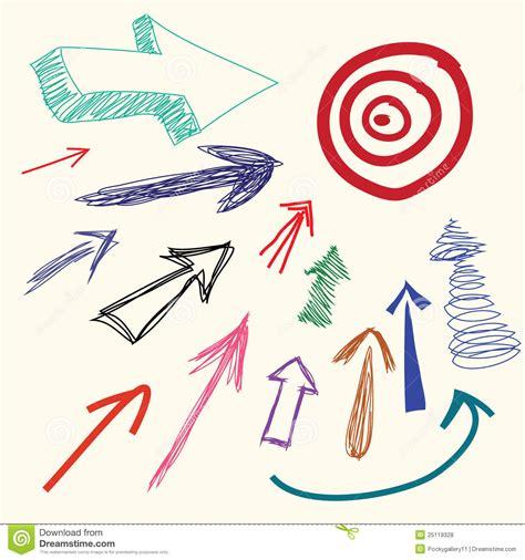 hand drawing cartoon doodle arrow royalty  stock