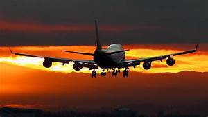 Awesome Airplane Sunset Widescreen Wallpaper Wallpaper ...