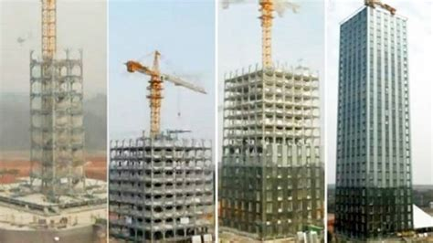 Amazing time lapse of 30-story building constructed in 360 ...