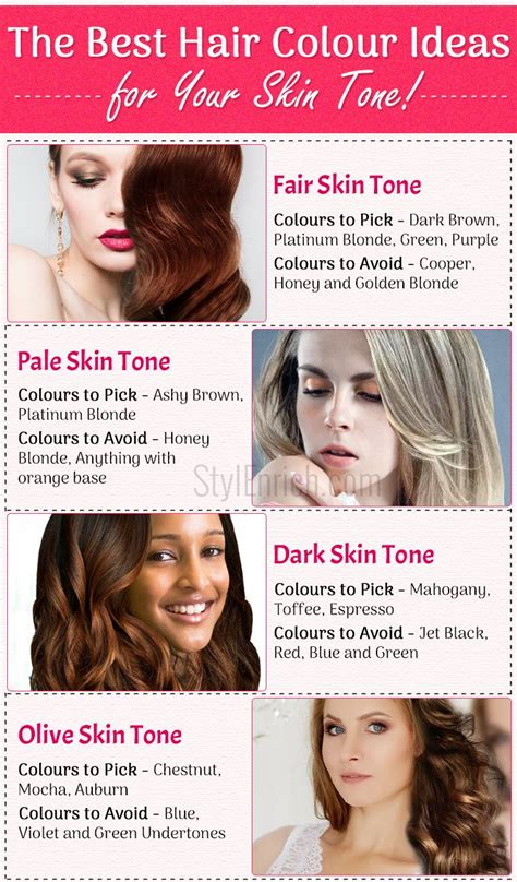 best hair color for skin tone hair colors for your skin tone best ideas to choose the