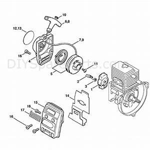 Stihl Kw 85 Sweeper Drum  Kw85  Parts Diagram  Rewind Starter