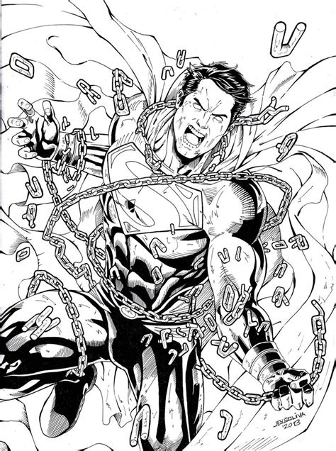 superman unchained for coloring by jey2dworld on deviantart