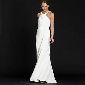 Plain elegant white wedding dress designs wedding for Plain wedding dresses