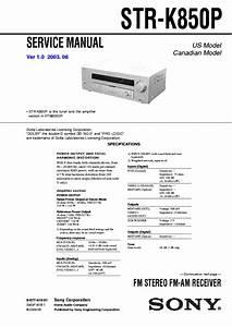 Sony Receiver Manual Str