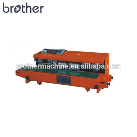 brother sfgw bag sealing machine  nitrogen gas filling horizontal type continuous band