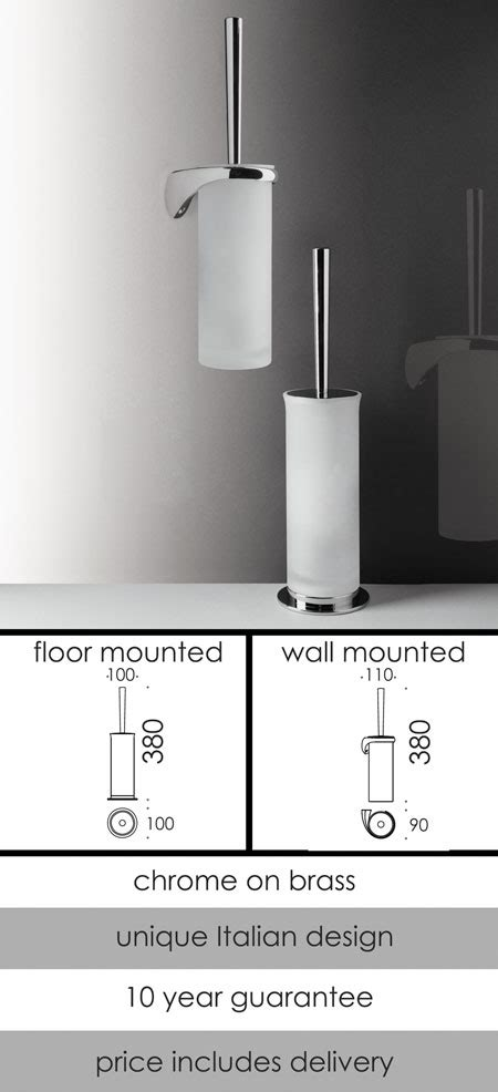 luxury bathroom accessories toilet brush set floor wall polo