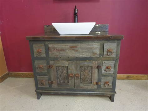 Barnwood Vanities by Reclaimed Gray Barn Wood Bathroom Vanity Rustic