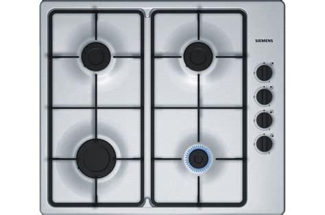 plaque de cuisine gaz plaque gaz siemens eb6b5pb60 inox 4135547 darty