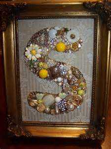 Framed Vintage Jewelry Letter