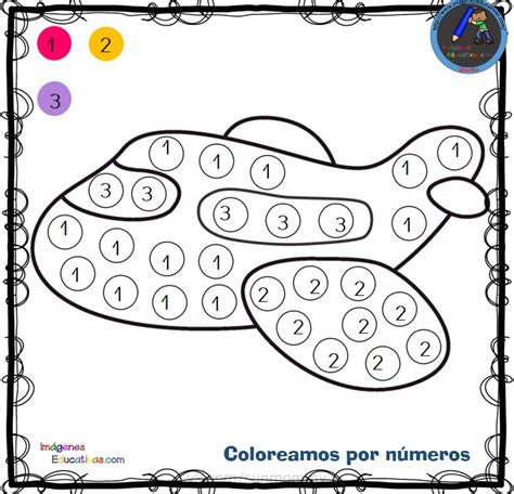 Fichas para colorear por letras números y símbolos (5