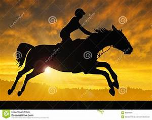 Rearing Horse With Rider Silhouette Sunset | www.pixshark ...