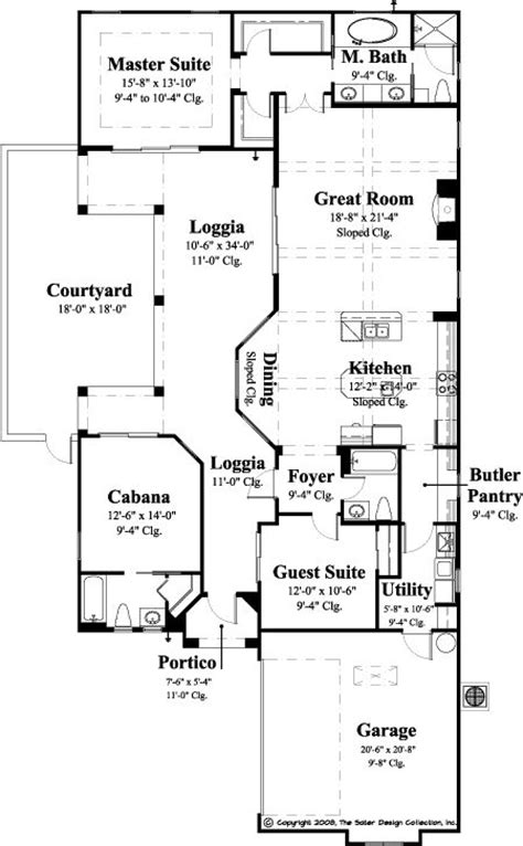 Single Story House Plans For Narrow Lots Photo by 1 Story Narrow Lot House Plan Home And Decor