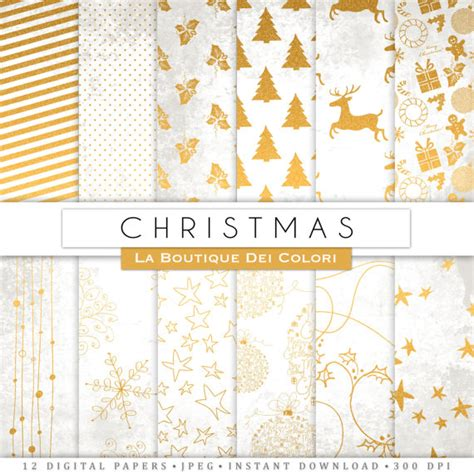 Type Of Christmas Tree Decorations by White And Gold Christmas Digital Paper Gold Background