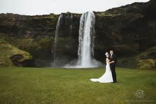 Wood Floor Inlay by Seljalandsfoss Iceland Wedding Photography