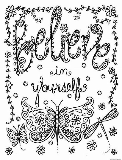Coloring Pages Deborah Muller Stress Adult Believe