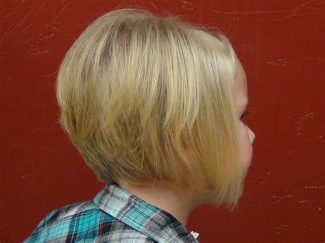style a line hair cut on the cutest little girl s hair