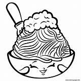 Coloring Noodle Pages Shopkins Printable sketch template
