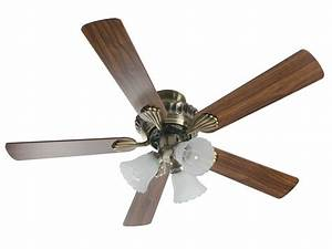 Inch english brass ceiling fan with light kit