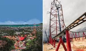 europe s tallest and fastest rollercoaster at portaventura world daily mail