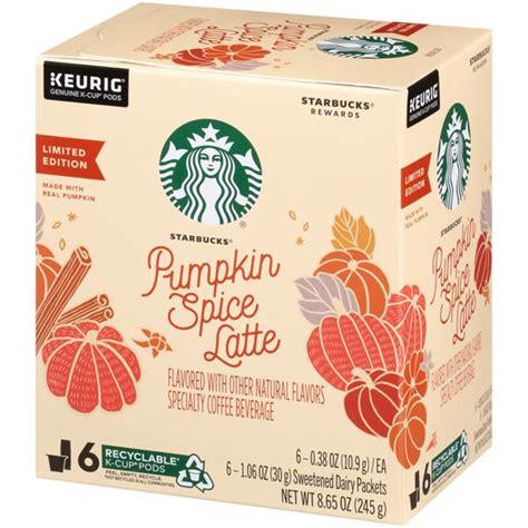 Nutrition facts label for starbucks beverage: Starbucks Pumpkin Spice Caffe Latte K-Cup Pods & Flavor ...