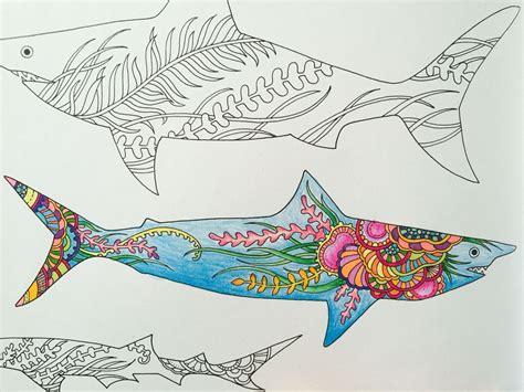 lost ocean  johanna basford sharks art