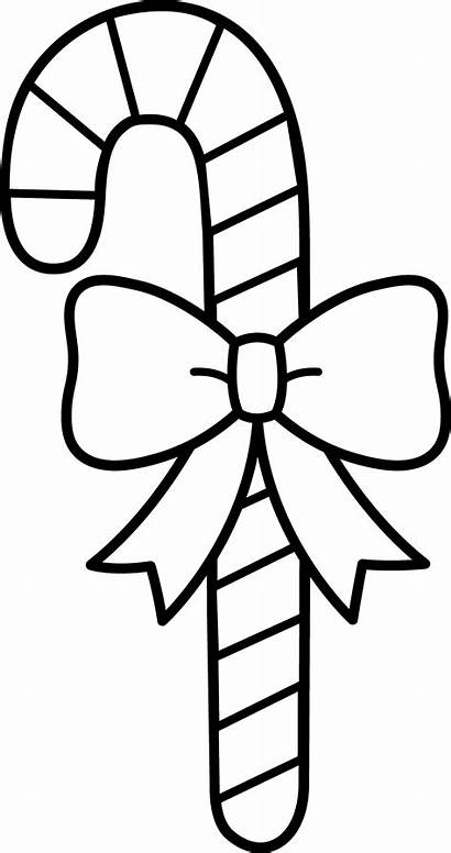 Candy Cane Line Clip Bow Sweetclipart