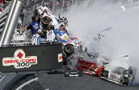 Race Car Wreck by 2013 Nascar Stock Car Nationwide Series Daytona Racing