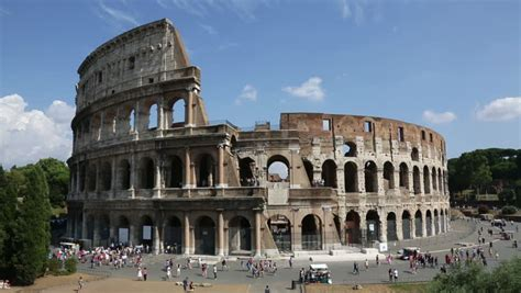 Colosseum, Rome, Italy Roman Coliseum On Summer Day With
