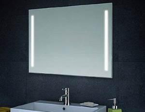 eclairage led miroir de mur miroir de salle de bains 80cm With eclairage miroir sdb