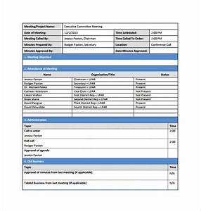 13 project meeting minutes templates to download sample With simple meeting minutes template free