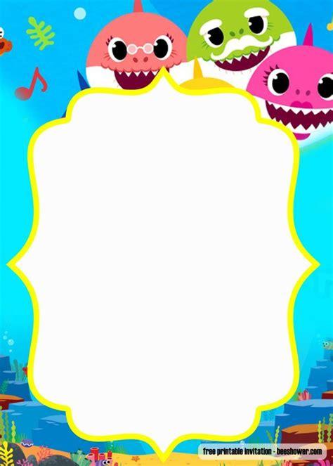 printable baby shark pinkfong birthday invitation