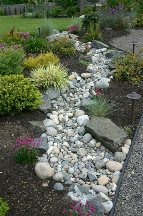 Backyard Landscaping Ideas With Rocks by Landscaping With River Rock River Rock Garden Ideas