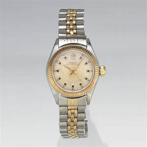 A Ladies' Rolex Oyster Perpetual Two Tone Wrist Watch , 12 ...