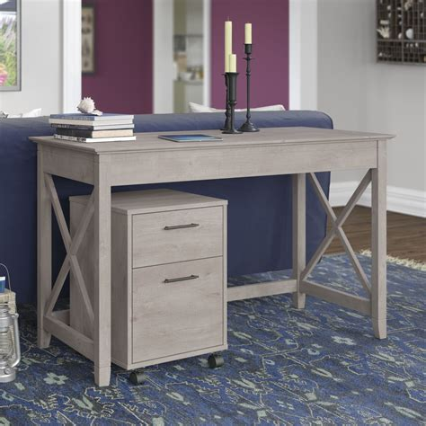 gray writing desk key west washed gray 48 quot writing desk with 2 drawer mobile