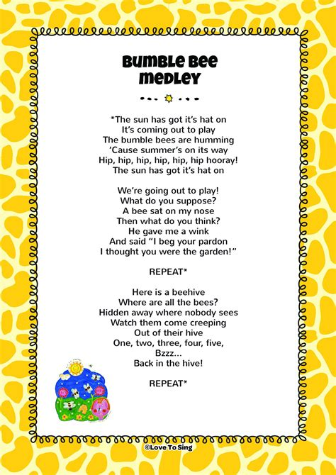 bumble bee medley song animal amp farm rhymes 660 | bd761c81264cc0ca266f8f8cb7b23992