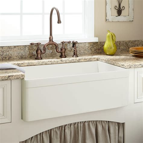 "30"" Baldwin Fireclay Farmhouse Sink Decorative Lip  Ebay"