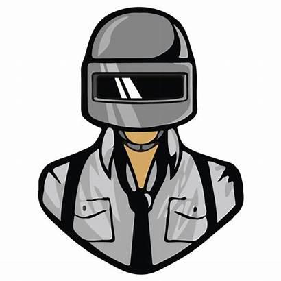 Pubg Stickers Mobile Transparent Helmet Cartoon Character