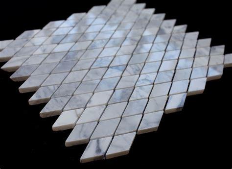 italian white carrara marble diamond polished mesh