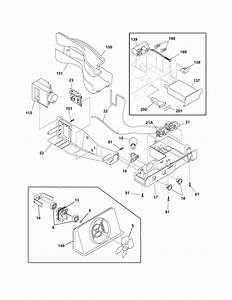 Controls Diagram  U0026 Parts List For Model Frs26kf6em2 Frigidaire