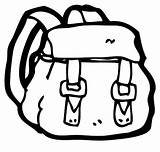Backpack Coloring Tocolor Straps sketch template