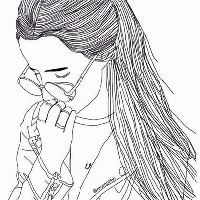 Drawing Hipster Drawings Sad Coloring Instagram Grunge