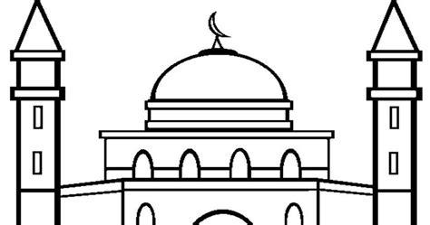 46 gambar mewarnai masjid dan orang
